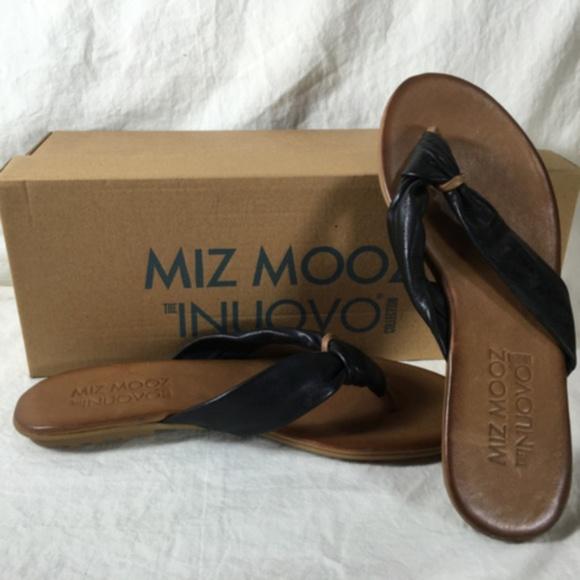 Miz Mooz Shoes - Women's Lagoon Thong Soft Leather Sandal Black